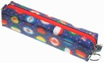 3D Lenticular Pencil Case, GLOBO , International Country Flages, Blue