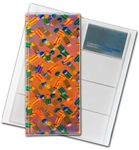 "3D Lenticular 4""x10"" Business Card File (Holds 128) , BF128 , PENCILS, Yellow, Green, Blue, Red"