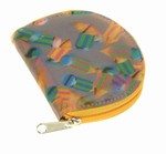 3D Lenticular Coin Purse with YKK Zipper, Rondo , Green, Yellow