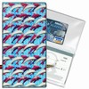 Lenticular Check Book Cover, 3D Dauphin, White, Blue