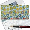 Lenticular Check Book Cover, Changing, Happy Face, Flowers , Yellow, Green, Red