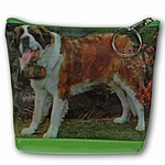 Lenticular Purse, 3D Lenticular Image, Dog, Swiss Saint Bernard with Neck Barrel, RC-624-Pavia