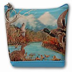 Lenticular Purse, 3D Lenticular Images, Wild Fly Ducks, SSP-039-Pavia