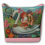 Lenticular Purse, 3D Lenticular Images, Chrildren and Swan, SSP-135-Pavia