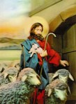 3D Lenticular POSTCARD - GOOD SHEPHERD