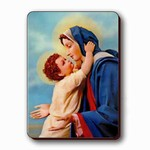 3D Lenticular Magnet - MADONNA WITH CHILD 4 SSP-198-MAL