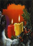 3D Lenticular POSTCARD - CandLES IN ROCK
