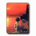 3D Lenticular Magnet - TWO CHILDERN W/SUNSET SSP-428-MAL