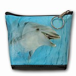 Lenticular Purse, 3D Lenticular Images,The Dolphin , Flipper, Black, SSP-441A-Pavia