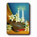 3D Lenticular Magnet - LILIES/CandLES/BIBLE T-034-MAL