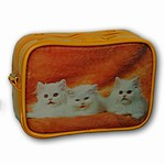 3D Lenticular Roma Purse, 3D Image, 3 cute White Cats, TP-304-ROMA
