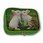 3D Lenticular Prado Purse, 3-D Image, Kissing Bunnie the first love, Rabbits, VSP-003-Prado