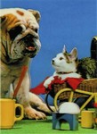 3D Lenticular Dog and Cat - POSTCARD
